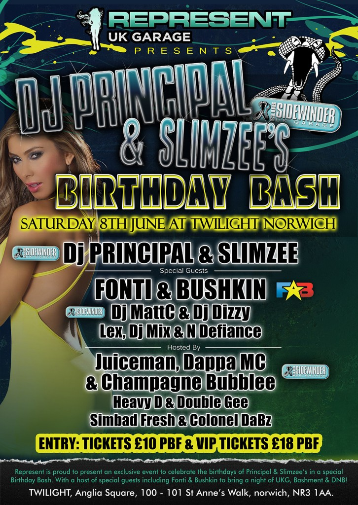 dj-mattc.co.uk NEWS GIGS BOOKINGS LIVE SHOW RELEASES GALLERY LINKSRSS Sidewinder Birthday Bash for Dj Principal