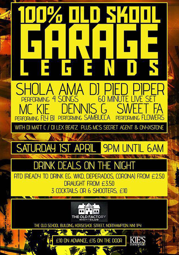 Poster Event Garage Legends